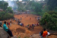 Community Football (AdamCohn) Tags: fun football community play soccer neighborhood hills dirt sierraleone freetown adamcohn httpadamcohncom
