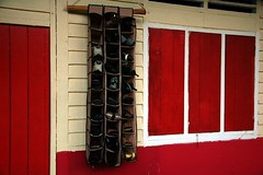 Shoes Rack (KC Toh) Tags: woodenhouse kampong d90      shoesrack