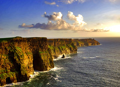 Cliffs of Moher (Giuseppe Suaria) Tags: ocean ireland sunset sea sky cliff cloud clouds tramonto nuvole mare nuvola eire cliffs burren cliffsofmoher moher irlanda oceano scogliere scogliera mywinners