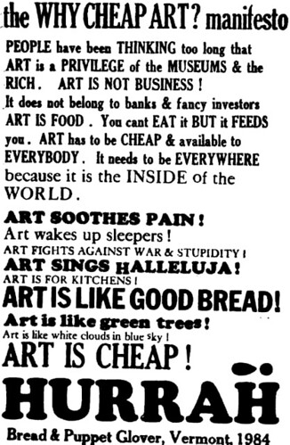 Why Cheap Art? manifesto