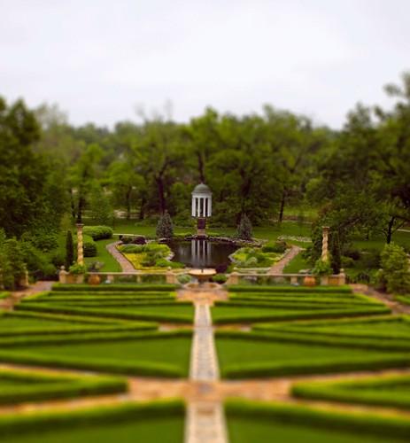 Philbrook Gardens Tiltshift