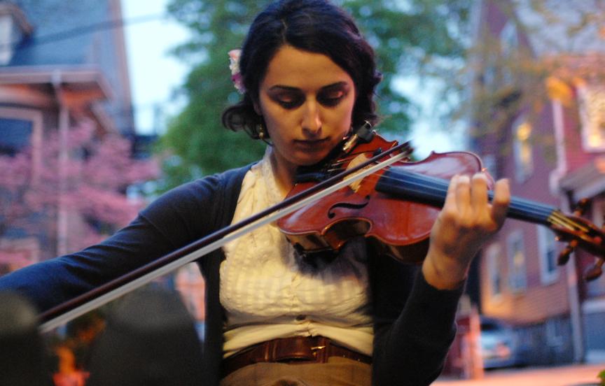 Driveway violinist