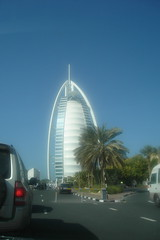 Burj al Arab (.::Rusty::.) Tags: beautiful hotel dubai motorway uae palmtrees burjalarab jumeirah fastcars jumeirahbeach artificialisland tallesthotel abdulrehman luxurioushotel
