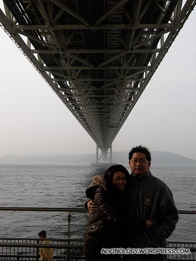 Rachel and I in front of the bridge