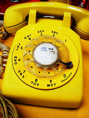 No Phone (trashleycan) Tags: usa yellow vintage la losangeles day phone telephone melrose hollywood fairfax fleamarket 714 rotaryphone melrosetradingpost