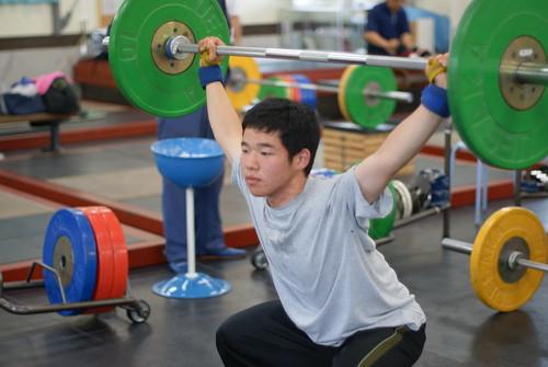 小長谷選手のフォーム練習