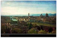 firenze my love (beesquare) Tags: italy evening florence italia sundown tuscany firenze duomo arno pontevecchio palazzovecchio piazzalemichelangelo