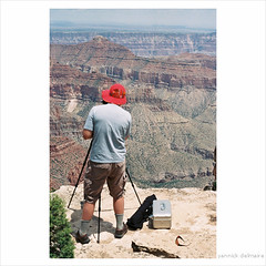watch the gap (Yannick Delmaire) Tags: arizona usa dangerous photographer view grandcanyon scenic canyon mindthegap northrim yannick mindyourstep watchthegap delmaire yannickdelmaire