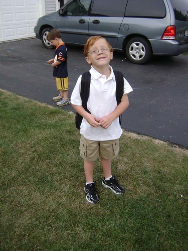 Michael 1st day of school