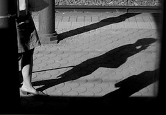 Along the Platform (rosita_65it) Tags: shadow woman florence donna ombra platform firenze binario