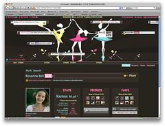 Ballerinas Plurk Layout (Plurk Layouts) Tags: ballerina threeballerinas bluelayout brownlayout pinklayout creamlayout ballerinasplurklayout
