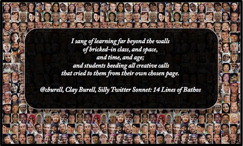 Clay Burell Silly Twitter Sonnet: 14 Lines of Bathos