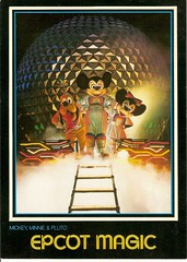 Disney Postcards (coconut wireless) Tags: world club vintage mouse one tv epcot florida earth postcard magic illuminations kingdom disney mickey future spaceship pluto fl minnie wdw walt meandering sse earforce meanderingmouse mmctv