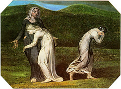 William Blake: Naomi entreating Ruth & Orpah