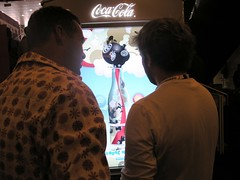 Coke touch screen vending machine