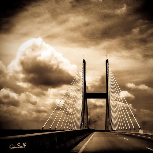 Talmadge Memorial Bridge Road View Sepia