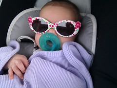 Finally Fitting into Her Sunglasses