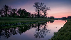 Before Night Falls (andywon) Tags: trees sunset sky nature water grass clouds reflections river germany landscape deutschland stream eveningglow elz badenwrttemberg teningen explored gettyimagesgermanyq1