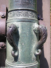 detail of cannon in the SF Presidio