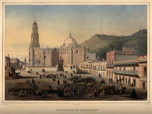 006-Vista de Zacatecas -Voyage pittoresque et archéologique dans la partie la plus intéressante du Mexique1836-Carl Nebel