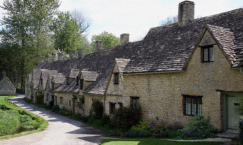 Old weavers cottages