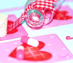 (timo0o) Tags: pink red love jack dispenser heart cork capsule can luv drug medicine ribbon apothecary pharmacist timo medication loveyou hotpink remedy  arwa medicament druggist