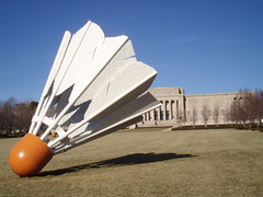 White Orange (Lord Jezzer) Tags: autumn orange white museum lawn nelsonatkins shuttlecock