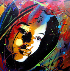 C215 - Wonderland (C215) Tags: streetart art french graffiti stencil christian wonderland pochoir masacara szablon c215 schablon gumy piantillas