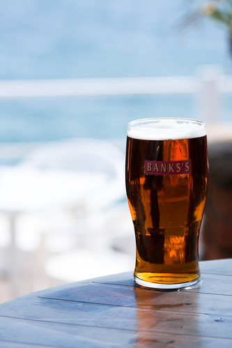 A pint of bitter in the sun