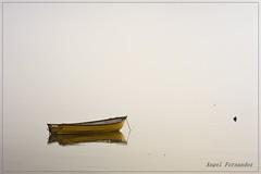 Soledad (Angel Fernndez) Tags: mar barca amanecer ibiza soledad neblina bote angelfernndez
