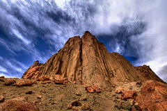 Face Of Shiprock New Mexico (jetguy1) Tags: travel vacation mountain newmexico rock volcano nikon scenic hdr shiprock navaho nikond700 1424mmf28
