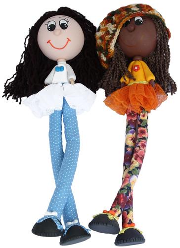 Bonecas Magrelinha e Rastafari  by PARANOARTE