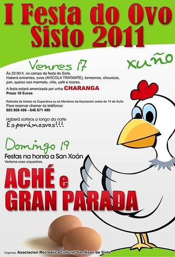 Dozón 2011 - Festa do Ovo no Sisto - cartel