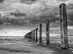 More Saltcoats posts (Mickdo101) Tags: seascape texture water clouds mono scotland blackwhite olympus omd ayrshire em1 1240