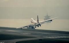 """3B-NAQ 747SP-27 """"Air Mauritius"""" (Daryl Chapman Photography) Tags: hongkong crazy landing sp boeing 747 kaitak airmauritius 747sp 747sp27"""
