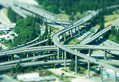 Hot Wheels mini (CORDAN) Tags: seattle cars photoshop underpass overpass hotwheels freeway tiltshift kenmoreair fakemini i5freeway faketiltshift faketilt tiltshift12 canons3is modeleffect mywinners cordan flickrgolfclub seattlefreeway i90freeway