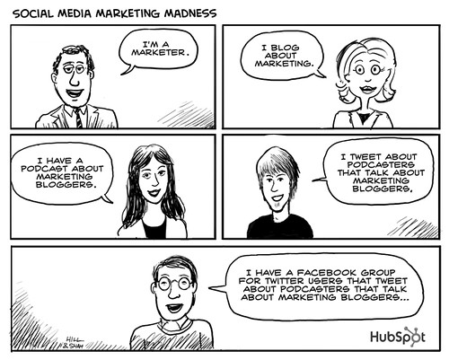 Social Media Marketing Madness Cartoon by HubSpot