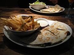 best lunch ever! (deepsha) Tags: fries pestochickenquesadilla