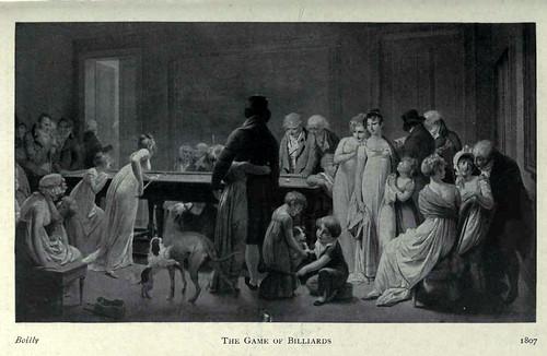 13- Cuadro de costumbres-Juego de Billar finales del XVIII