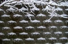 SnowWall (Y Mucho Mas) Tags: winter snow patterns hiver nieve somerville windowview invierno neige walls cinderblock cementblock 02144 urbanarchitecture tacomaartmuseum somervillemassachusetts cinderblockwall