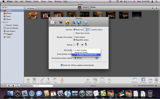 iPhoto : Change Photo Editor