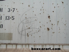 unknown ( boxcar art freight train graffiti ) (4 I ARCHIVES) Tags: railroad art train graffiti michael sketch 01 unknown boxcar freight poulin moniker boxcarartcom