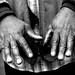 Earl Johnson's hands