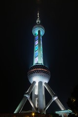Shanghai - Pearl of the Orient Tower (cnmark) Tags: china road light tower night geotagged noche shanghai bright nacht explore noite colored pearl   orient pudong 1001nights coloured nuit  notte lu nachtaufnahme lujiazui  pearloftheorient  explored allrightsreserved mingzhuta  jiahuancheng geo:lat=31240715 oltusfotos nikonflickraward50mostinteresting shanghaimodernarchitecturaldesigncoltd geo:lon=121493817  mygearandme mygearandmepremium mygearandmebronze mygearandmesilver mygearandmegold