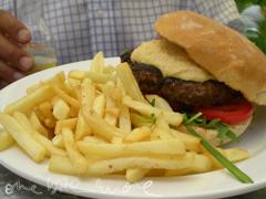 lamb burger at lord roberts