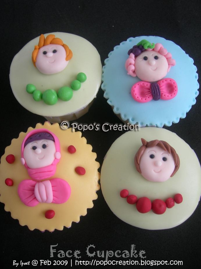 face cupcake