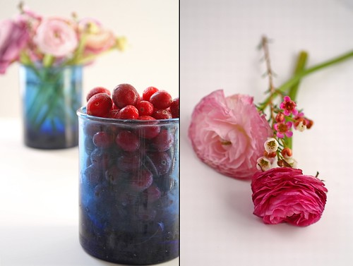 Cranberries and ranunculus