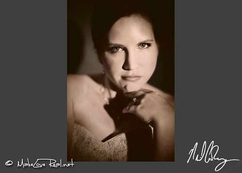 Powerful film-noir style bridal portrait photographer