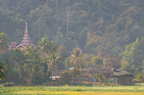 The temple at the Shan village of Thung Masaan, Mae Hong Son