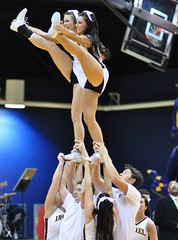 So Hold On To Your Sneakers (MNJSports) Tags: athletic cheerleaders crowd toss fans cheer throw supporters gymnastic acrobatic synchronized drexelspiritgroup